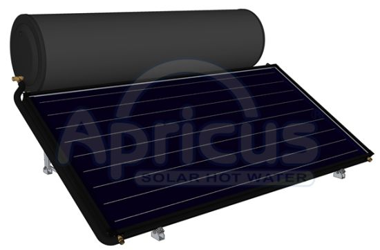 Apricus Flat Plate Enamel Tank Thermosyphon Solar Water Heater pictures & photos