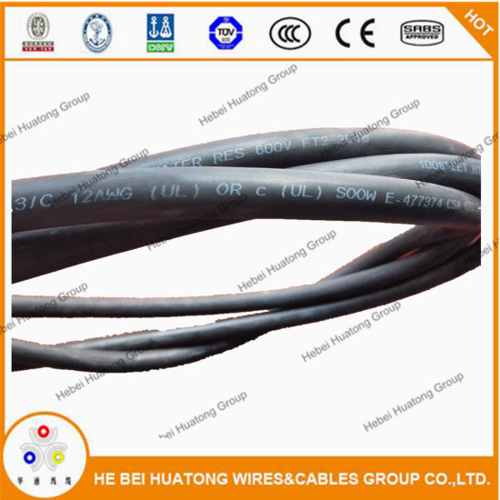 UL Listed 3 4 5 Conductor 12AWG 10AWG 8AWG So Sow Soow Sjoow Cable Flexible Cored Flexible Cord Power Cable pictures & photos