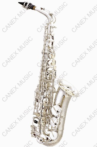 Alto Saxophone SAA-S / Entry-Level Saxophone Silver/ Musical Instruments