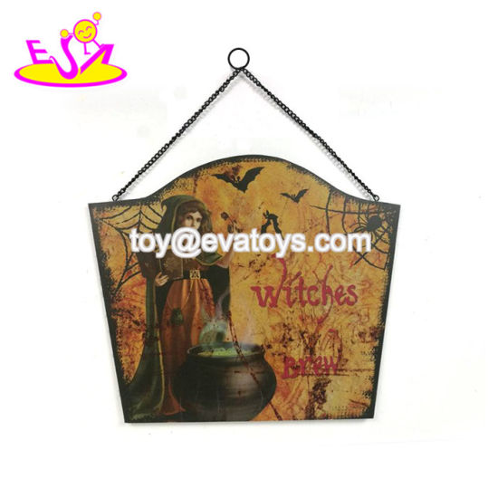 Wholesale Customize Wooden Halloween Home Decor For Wall W09d050