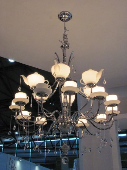 Pendant Lamp With Gl Crystal Drops
