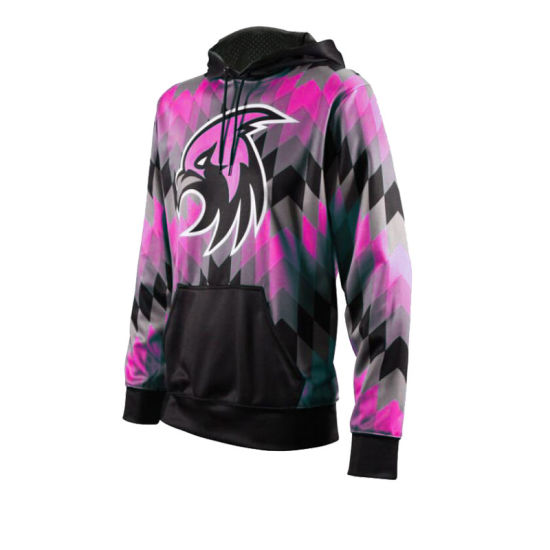 Sublimated Zip up Pullover Hoodie with Fleece Fabric