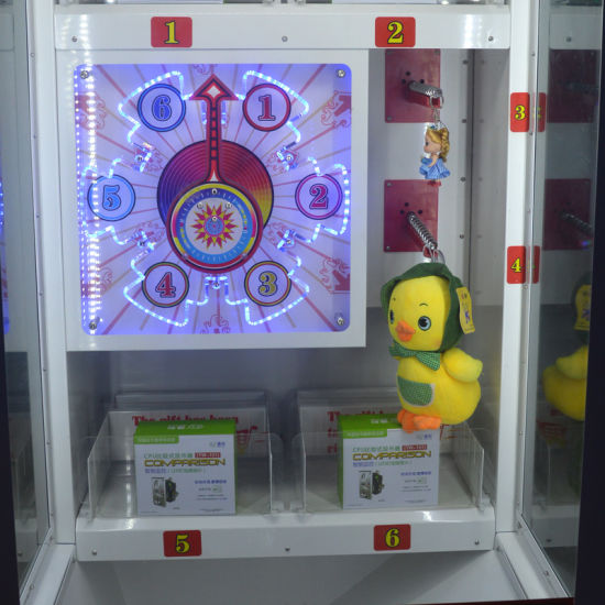 Coin Operated Lucky Spin Gift Ticket Prize Claw Crane Game Machine