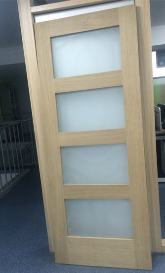 China Wood Bathroom Frosted Glass Interior Door China 4 Glass