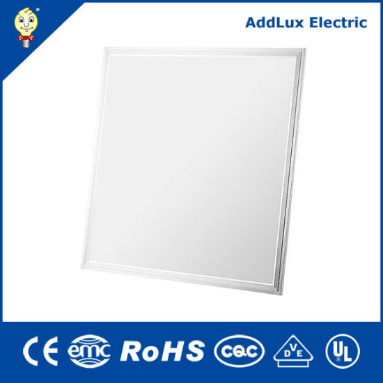 Ce UL Saso Ultra Thin Square 40W SMD Panel Light LED Made in China for Ceiling, Office, Store, Supermarket, Museum, Library Lighting From Best Exporter Factory