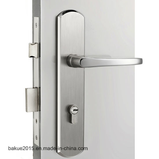 Stainless Handle Universal Security Door Lock Anti-twist Entry Lever Mortise