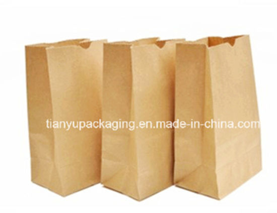 1aac3610be9 China Brown Kraft Paper Grocery Bag with Greaseproof Paper - China ...