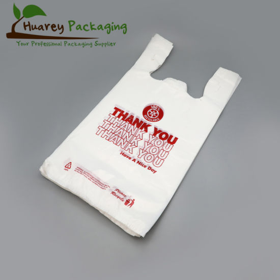 Plastic T-Shirt Shopping Bags with Printing