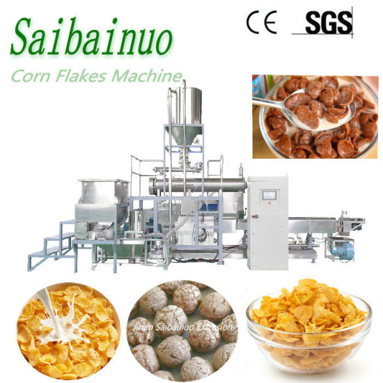 Automatic Industrial Crispy Sweet Kelloggs Choco Balls Pops Fruit Loops Puff Snacks Chips Food Production Line Breakfast Cereals Corn Flakes Making Machine