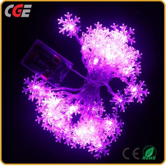 Christmas Light LED Lights String of Stars Small Snow Lanterns Christmas LED Fairy Light Decoration Light pictures & photos