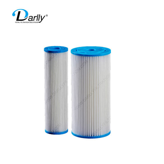 Darlly Washable Reuseable Durable Pleated Filter Cartridge for RO Security Filtration