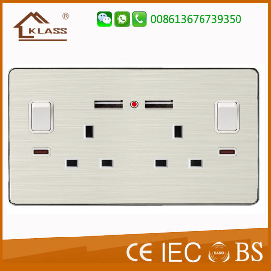 Hot Sale British Standard Mf 13A Single Switch Socket pictures & photos
