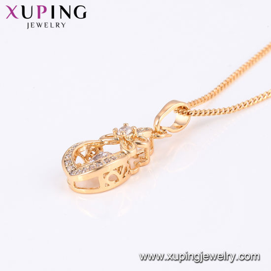 44192 Imitaion Fashion Xuping 18K Gold -Plated No Stone Necklace in Environmental Copper pictures & photos