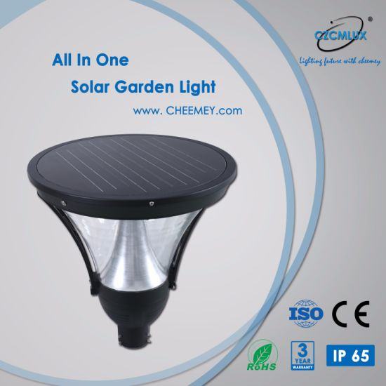 Casting Aluminum 12W LED Outdoor Solar Garden Light