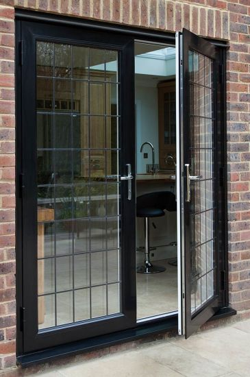 China Hot Seller American Style Double Glass Aluminum French Door