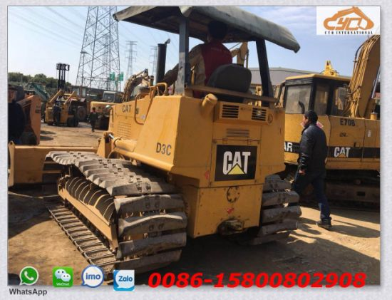 China Used Cat D3c Bulldozer with Swamp Track Shoe for Sale