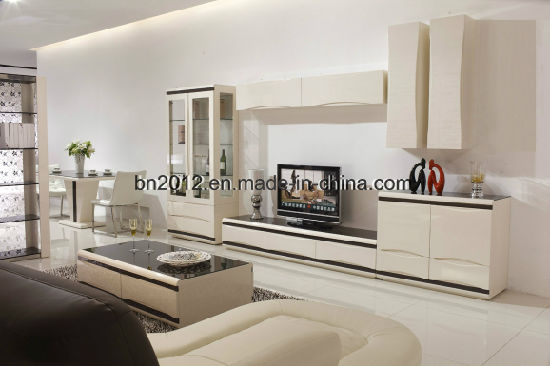 Living Room Furniture Modern MDF And Glass TV Stand (DS 147)
