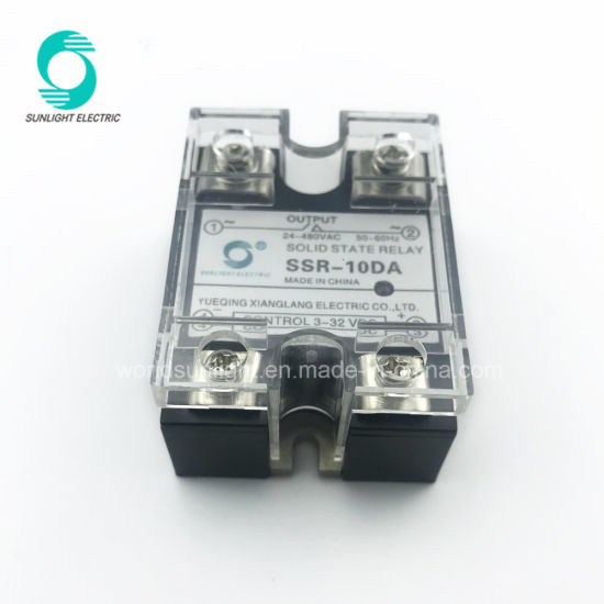 China Manufacturer Zero Crossing SSR10da 10AMP 480V Solid State
