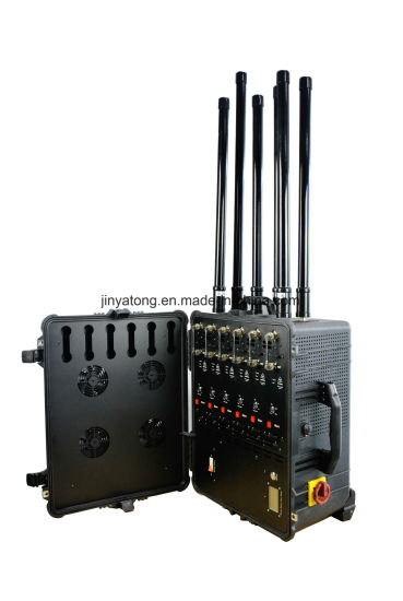 Draw Bar Suitcase High Power 3G 4G All Cell Phone Signal Jammer for VIP Protection pictures & photos