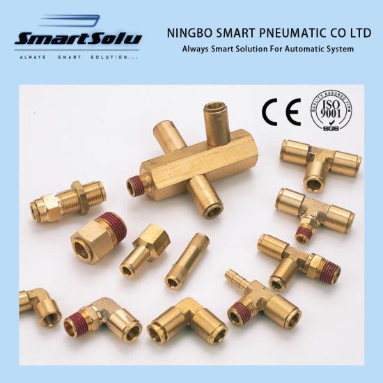 Bsp NPT Nptf Thread Metal Brass Pneumatic Pipe Fittings