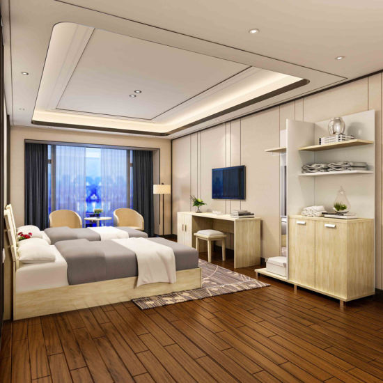 Customized HPL Formica Laminated Serviced Apartment Bedroom Furniture In  Plywood Boards