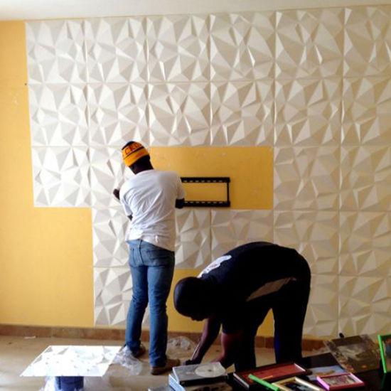 China Guangzhou Wave Design Modern PVC 3D Wall Panel for Bathroom ...