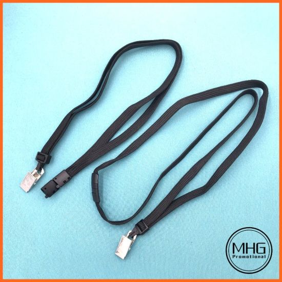 Factory Direct Wholesale Brady Lanyards Flat Black 10X900mm Safety Breakaway Lanyard pictures & photos
