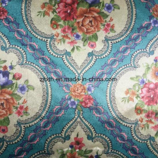2017 Printed Elegant Geometry Flower Fabric For Sofa, Upholstery