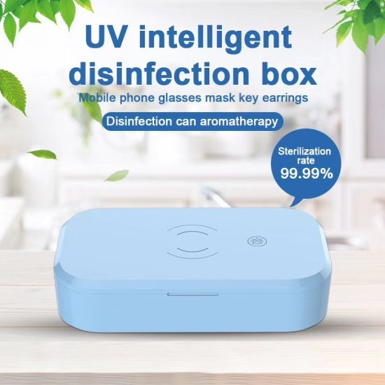UV Sterilizer Box with Wireless Charger for Mobile Phone UV Disinfection UV Cell Phone Sanitizer