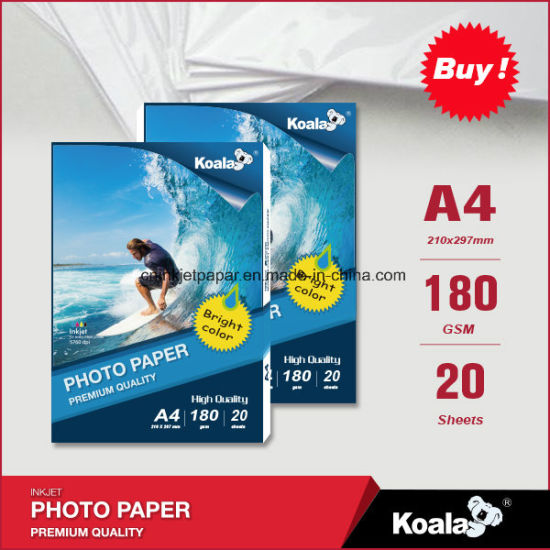 180GSM Waterproof High Glossy Inkjet Photo Paper pictures & photos