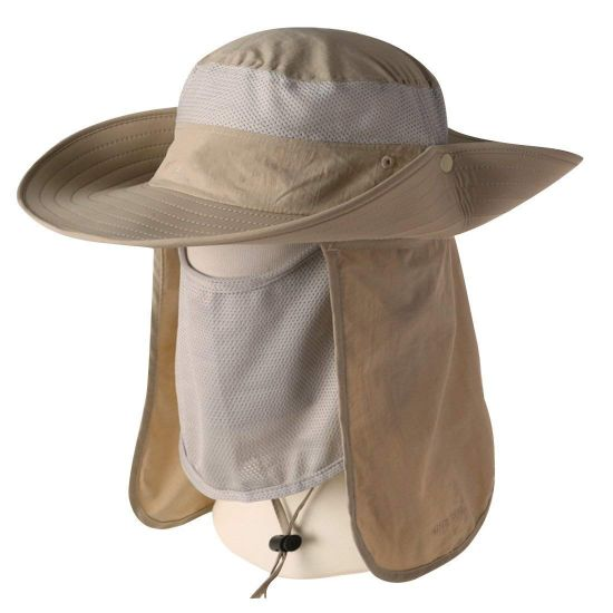 Nylon Sun Protection Summer Outdoor Fishing Hat with Neck Flap