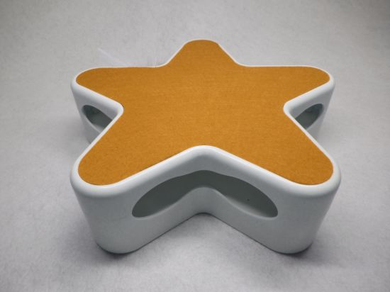 Orange Rotating Feather Interactive Cat Toy