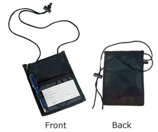 Custom Made Multi-Pocket Credential Wallets/Neck Wallet Tradeshow Holders