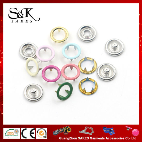 Factory Price Metal Prong Snap Fastener Baby Snap Button for The Baby Cloth