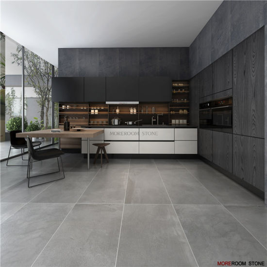 china large format fabric texture grey matt porcelain floor and wall