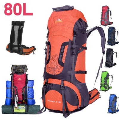 Custom Logo Waterproof Large Capacity Outdoor Travel Climbing Backpack with Rain Cover Hiking Backpack