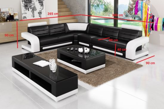 Divan Modern Leather Sofa With Ltalian Design For Living Room Pictures Photos