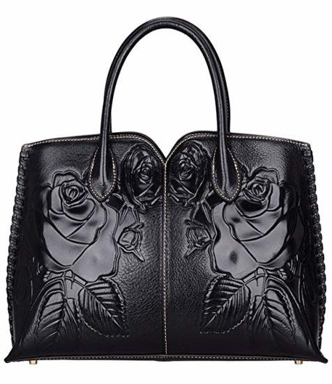 PU Leather Emboss Flower Lady Handbag Ladies Handbags Designer Handbag Fashion Bags Wholesale Designer Handbag Replica Handbag (WDL01488)