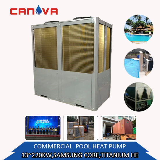 Stainless Steel 13.5kw-220kw Big Hotel Use Swimming Pool Water Heater Equipment Factory