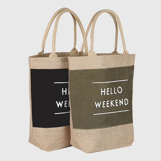 Wholesale Waterproof PVC Lamination Burlap Bag, Jute Bag, Jute Shopping Bag, Jute Wine Bag, Jute Gift Bag pictures & photos