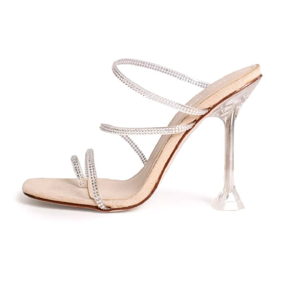Women Shoes High Heels Slippers Clear Transparent Shoes for Lady Women Sandals