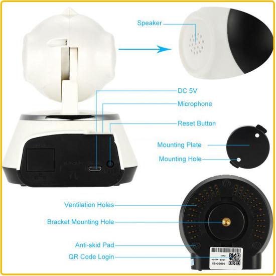 China Multifunctional Wireless Robot WiFi IP Camera P2p Onvif IP