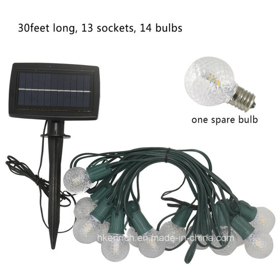 Outdoor Solar G40 LED String Light for Parties, Wedding, Garden pictures & photos