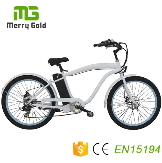 Chinese Merry Gold 7 Speed Classic Beach Cruiser Ebike pictures & photos