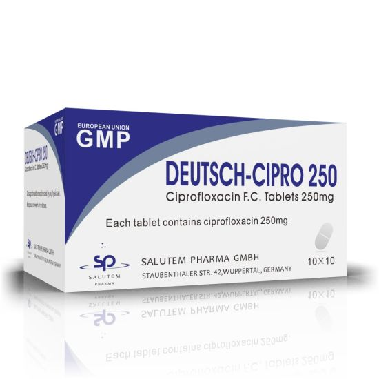 High Quality Good Price Competitive Contract Manufacturing Ciprofloxacin Tablets 250mg