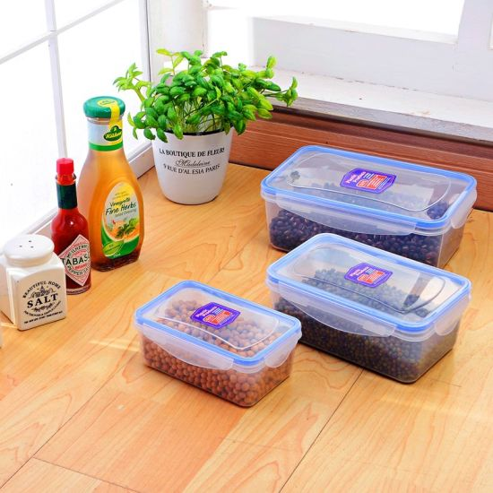 BPA-Free Set of 3 Cereal & Dry Food Storage Container, Nested Plastic Food Containers/Airtight Food Container