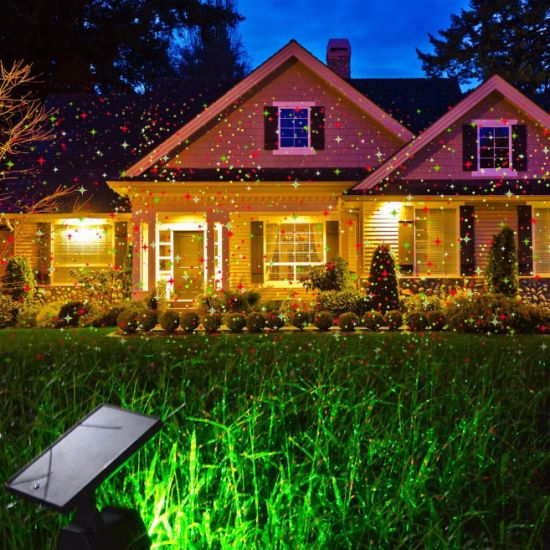 2018 solar christmas lights red green dancing lights waterproof outdoor laser lights projector with for holiday party wedding - Outdoor Christmas Light Projector