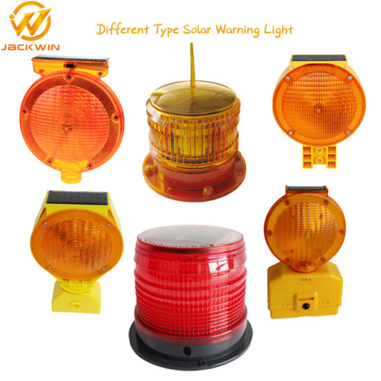 Solar Panel Signal Safety Road Warning Light on Build Sites/Airport pictures & photos