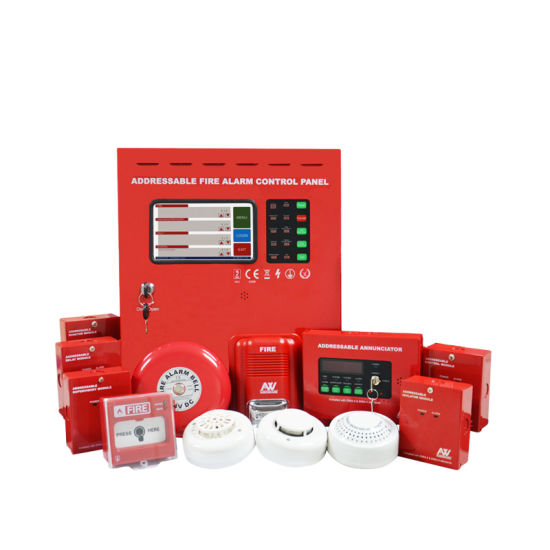 LCD Display Touch Screen Addressable Fire Alarm Panel
