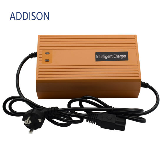Addison High Quality 16series 48V 58.4V 10A Alumunium Case LiFePO4 Lithium Battery Charger for Li-ion Battery Pack